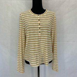 Madewell Sound Ribbed Henley Tee in Vivian Stripe